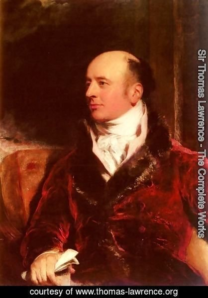 Sir Thomas Lawrence - Portrait Of James Perry (1756 - 1821)