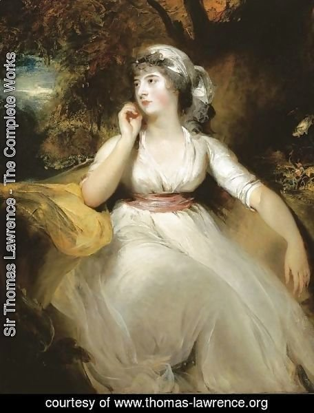 Sir Thomas Lawrence - Portrait of Miss Selina Peckwell, Mrs Grote (1775-1845)