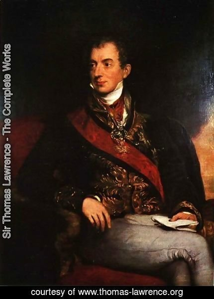 Sir Thomas Lawrence - Klemens Wenzel von Metternich (1773-1859), German-Austrian diplomat, politician and statesman