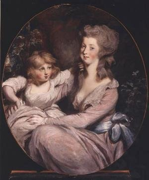 Sir Thomas Lawrence - Peggy Shippen and daughter