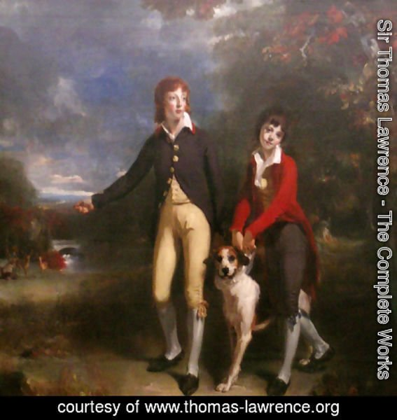 Sir Thomas Lawrence - The Two Sons of the 1st Earl of Talbot