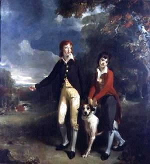 Sir Thomas Lawrence - Portrait of Charles Chetwynd Talbot Viscount Ingestre and His Brother