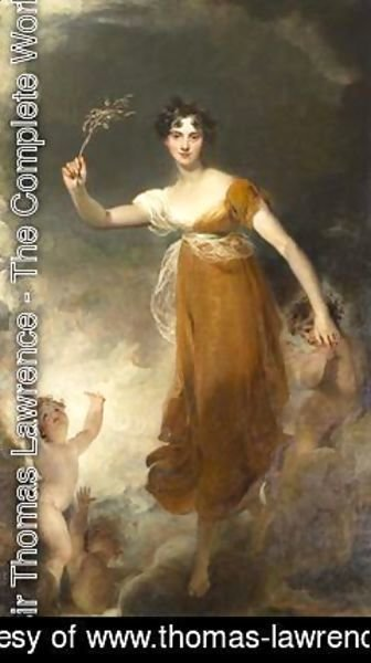 Sir Thomas Lawrence - Portrait of Georgina Maria Lady Leicester as Hope