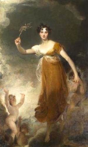 Portrait of Georgina Maria Lady Leicester as Hope