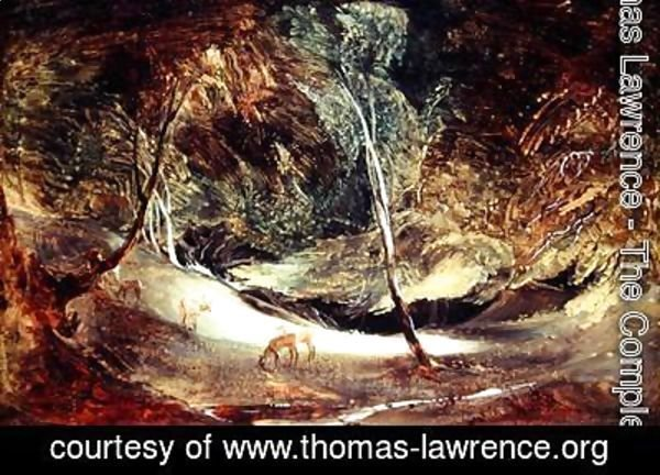 Sir Thomas Lawrence - Study from Nature The Source of the Manifold Ilam Park