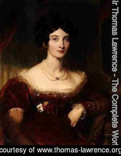 Sir Thomas Lawrence - Anna Frances Bankes Lady Falmouth 1789-1864