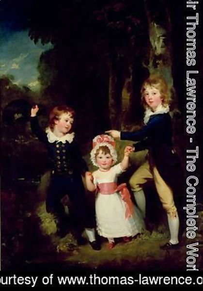 Sir Thomas Lawrence - Portrait of the Children of Lord George Cavendish