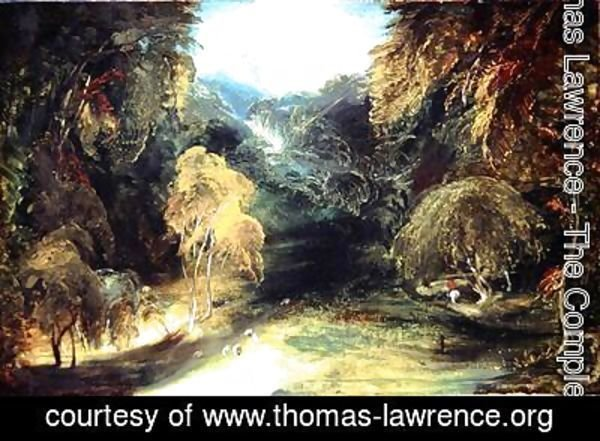 Sir Thomas Lawrence - Study from Nature A View from Dovedale Looking Towards Thorpe Cloud