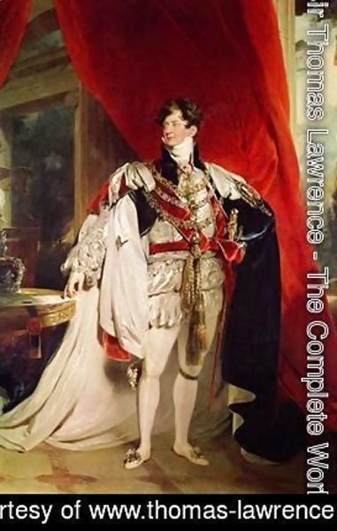 Sir Thomas Lawrence - The Prince Regent later George IV 1762-1830 in his Garter Robes