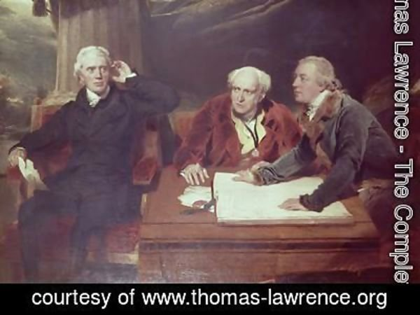 Sir Thomas Lawrence - Sir Francis Baring Banker and Director of the East India Company with his Associates