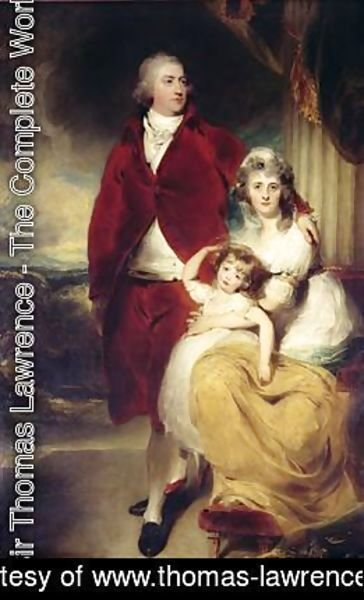 Sir Thomas Lawrence - Henry 10th Earl and 1st Marquess of Exeter his wife Sarah and daughter Lady Sophia Cecil