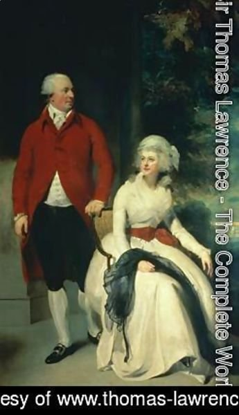 Sir Thomas Lawrence - Portrait of John Julius Angerstein 1735-1823 and his second wife Eliza 1748-1800
