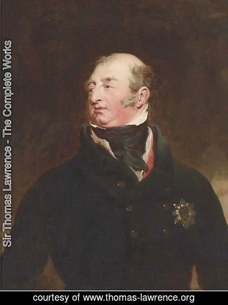 Sir Thomas Lawrence - Portrait of Frederick, Duke of York and Albany (1763-1827), bust-length, in a black jacket, wearing the Order of the Garter