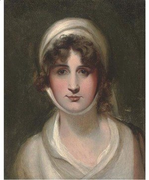 Sir Thomas Lawrence - Portrait of Mary Siddons, bust-length