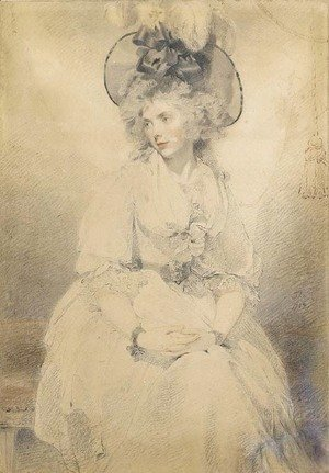 Sir Thomas Lawrence - Portrait of a lady, probably Mrs James Denham