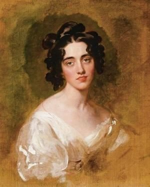 Sir Thomas Lawrence - Portait Of Lady Georgina North (Died 1835), Unfinished