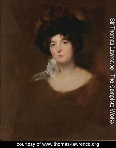 Sir Thomas Lawrence - Potrait Of A Lady, Said To Be Lady Blessington's Sister