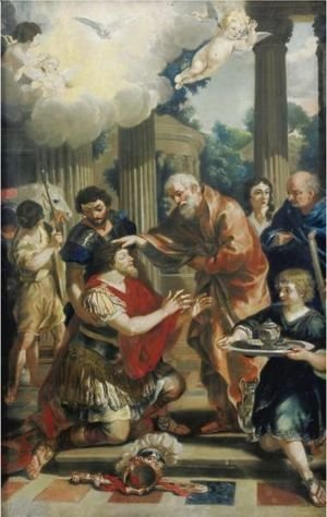 Saul Receiving Sight From Ananias