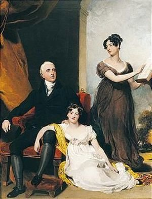 Sir Thomas Lawrence - Portrait Of Charles Binny (D.1822) With His Daughters