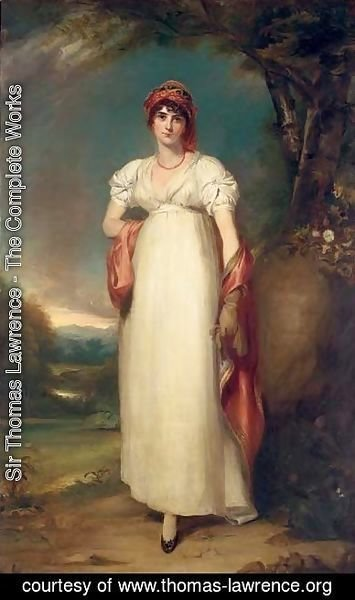 Sir Thomas Lawrence - Portrait of Mrs John Halkett (d. 1805)