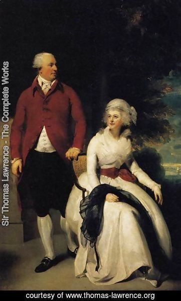 Sir Thomas Lawrence - Mr and Mrs John Julius Angerstein  1792