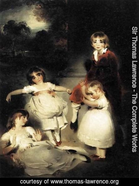 Sir Thomas Lawrence - Portrait of the Children of John Angerstein  1808