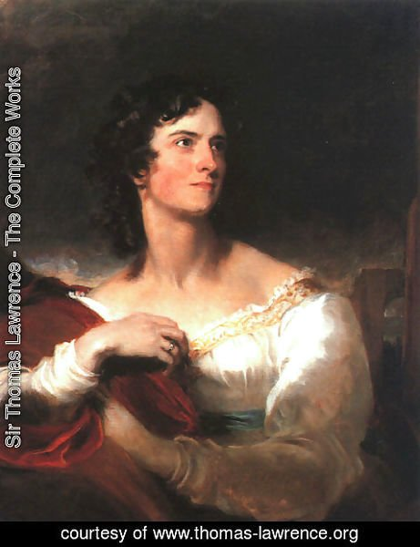 Sir Thomas Lawrence - Miss Caroline Fry  1827