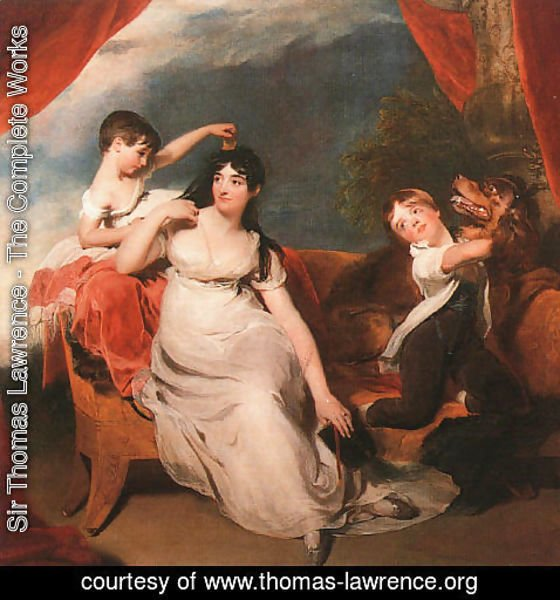 Sir Thomas Lawrence - Mrs. Henry Baring and her Children  1817